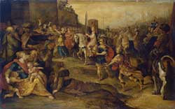 Frans Francken II's depiction from the 1630s of David Entering Jerusalem