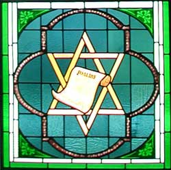 Larry Axelson's photo of the symbol below the King David stained-glass window at Grace Lutheran Church in Elgin, Texas