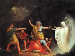 "American artist William Sidney Mount's ""Saul and the Witch of Endor"""