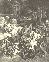Gustave Doré's depiction of cedars being cut for the Temple in Jerusalem