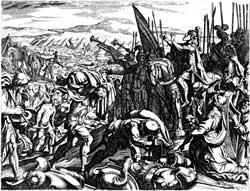 A depiction of Jehoshaphat in battle