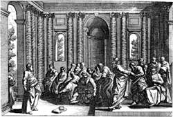 A depiction of the apostolic council by an unknown illustrator of a Nuremberg printing of Martin Luther's Bible translation
