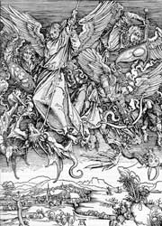 Albrecht Dürer's depiction of St. Michael and the Dragon