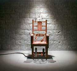 A photo of an electric chair by an unidentified photographer