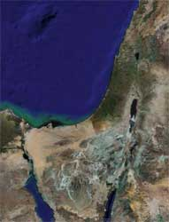 The Google Maps image of Israel