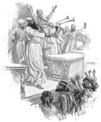 Paul Hardy's depiction of the jubilee proclamation described in Deuteronomy