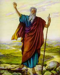 An unidentified artist's depiction of Moses's farewell to the people of Israel