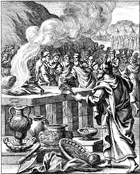 J. C. Weigel's 1695 woodcut depicting the confirmation of the covenant described in Exodus 24