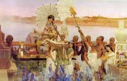 "Sir Lawrence Alma-Tadema's depiction of ""The Finding of Moses"""