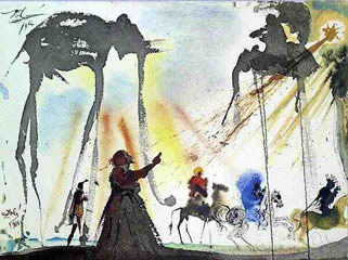 An image of the work of Spanish surrealist Salvador Dali (1904-1989) depicting Isaiah 55:6