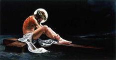 A contemporary image of Jesus Christ, the Suffering Servant of Isaiah 52:13-53:12, before being nailed to the cross