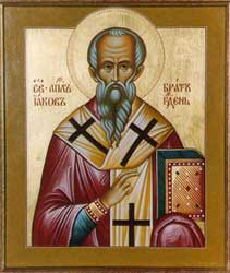 An image of a Russian icon depicting the James whom the Holy Spirit inspired to write the book we are reading today