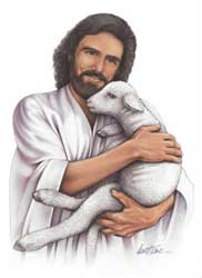A contemporary depiction of Jesus as the Good Shepherd by an unidentified artist