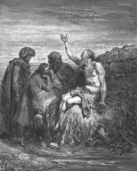 Gustave Doré's depiction of Job and his three friends