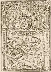 An undated depiction of Lazarus and Dives by an unidentified artist