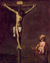 Francisco de Zurbarán's 1660 depiction of St. Luke as a painter before Christ on the cross