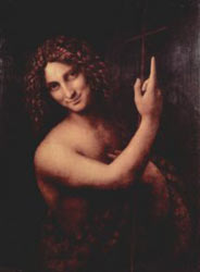Leonardo da Vinci's depiction of John the Baptizer