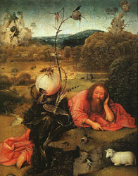 "Netherlandish painter Hieronymus Bosch's ""St. John the Baptist"""