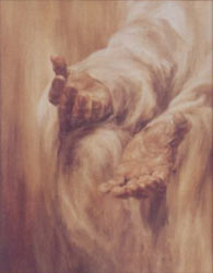 "Contemporary American artist Joann Reed's painting titled ""Come Unto Me"""
