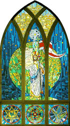 """The Great Commission"" window by David J. Hetland for First Lutheran Church"