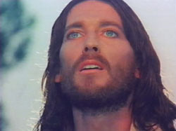 "Robert Powell as Jesus in Franco Ziefirelli's 1977 movie ""Jesus of Nazareth"""