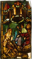 A depiction of Nehemiah in a late 14th-century window from the Marienkirche in Frankfurt on the Oder