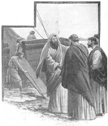 An unidentified artist's depiction of Paul leaving Titus in Crete