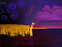 "Contemporary Canadian author and artist Michael D. O'Brien's ""Final Confrontation"""