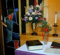 bible on church altar
